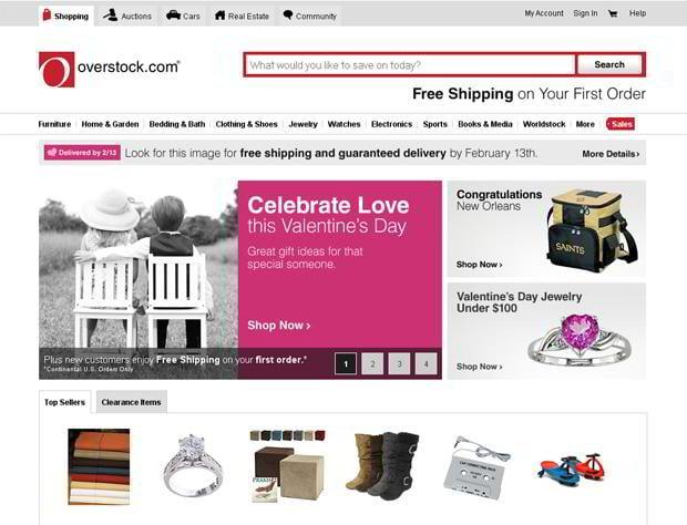 valentine custom web design – Overstock.com