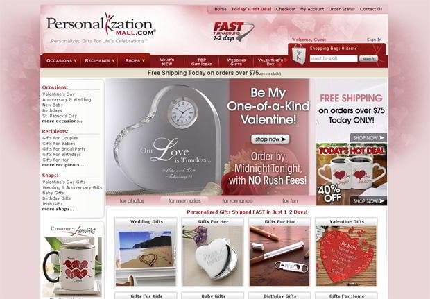 valentine custom design – Personalizationmall.com