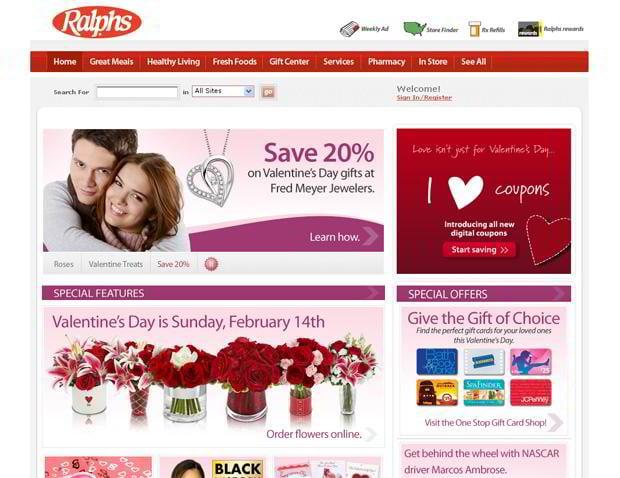valentines custom web design – Ralphs.com