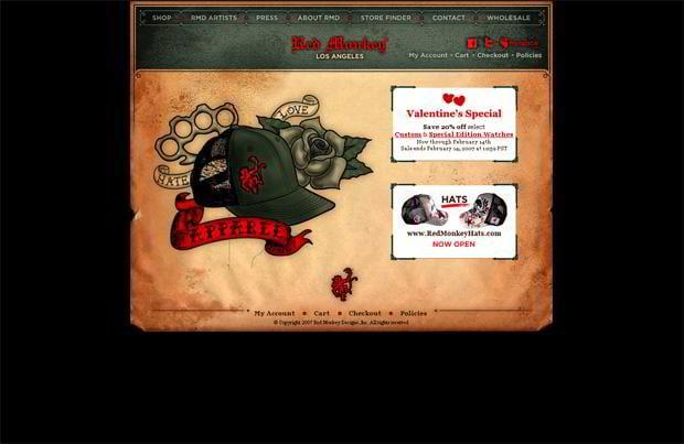 valentine web design – Redmonkeydesigns.com