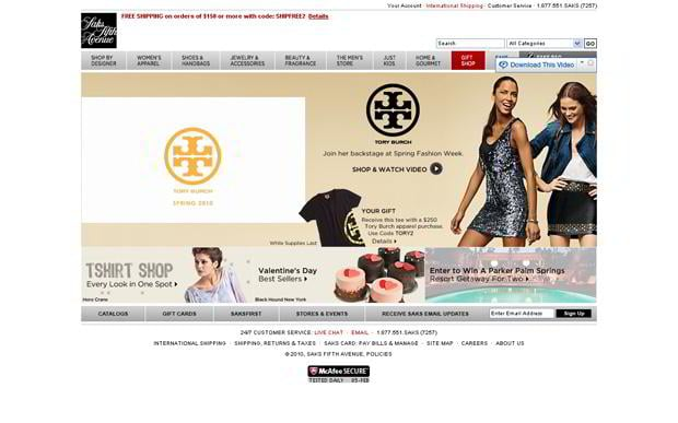 valentines website customization – Saksfifthavenue.com