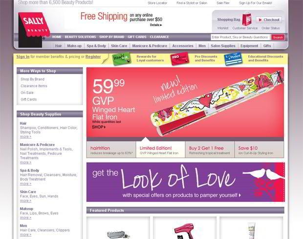 valentine web design – Sallybeauty.com