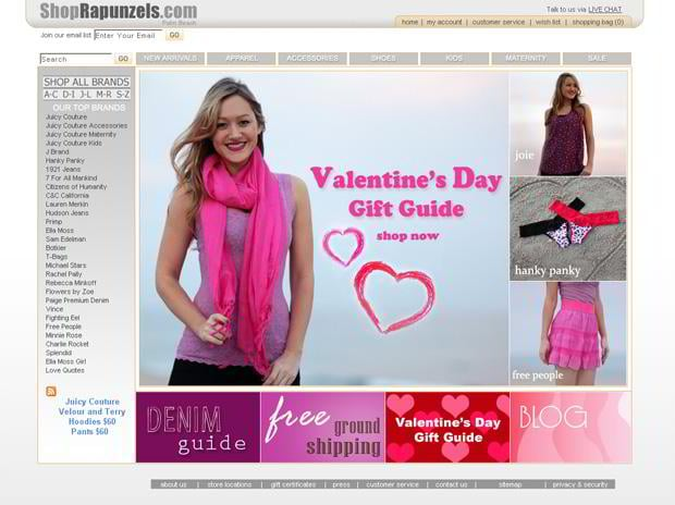 valentine website customization – Shoprapunzels.com