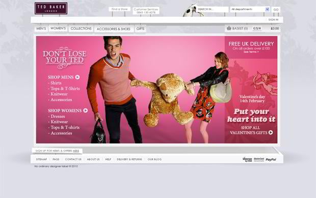 valentine web design – Tedbaker.com