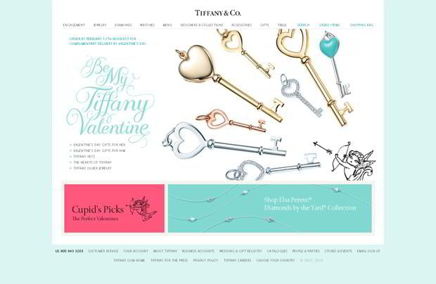 valentines web design – Tiffany.com