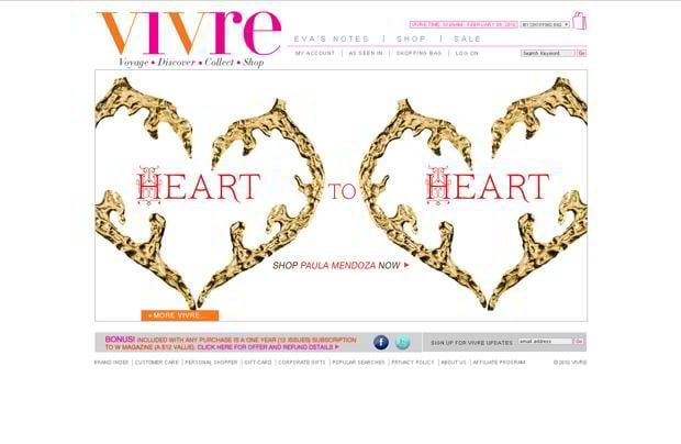 valentine website design – Vivre.com