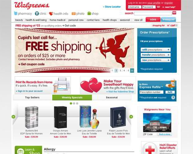 valentines custom web design – Walgreens.com