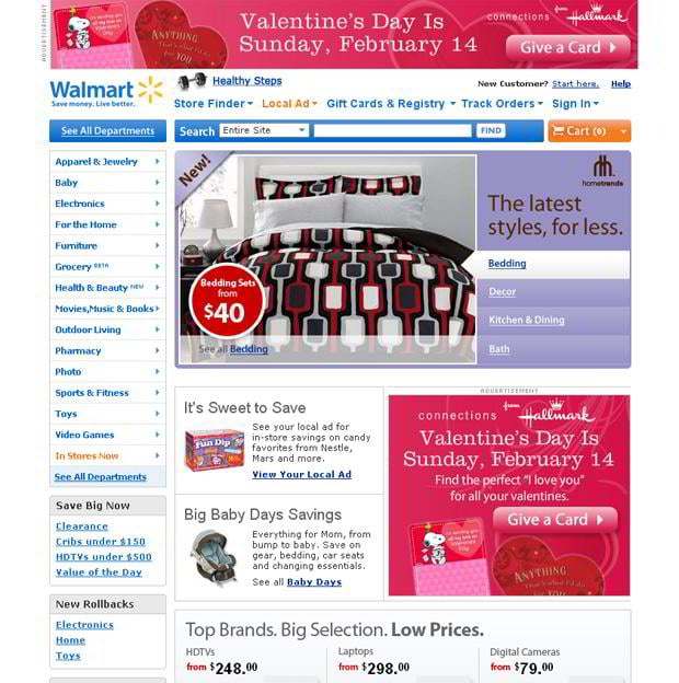 valentine website customization – Walmart.com