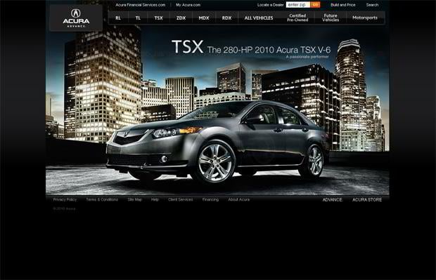 car web design - Acura