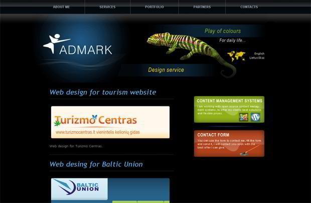 wordpress portfolio design - Admark.lt