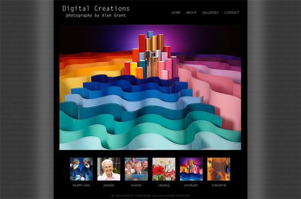 wordpress portfolio design - Alangrantphotography.net
