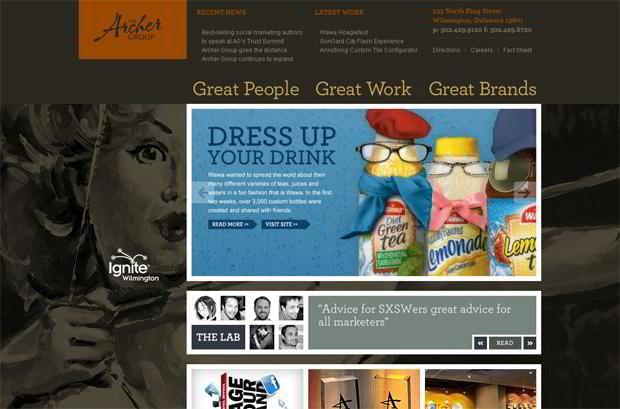 portfolio website wordpress theme - Archer-group.com