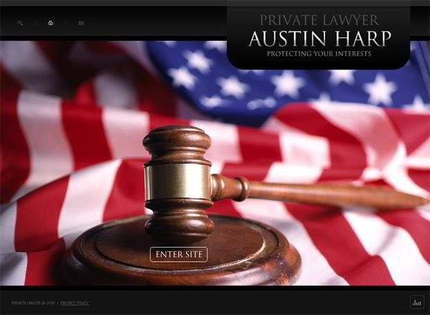 Web templates with flag graphics - Austin Harp