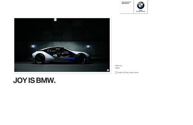 car website design - BMW
