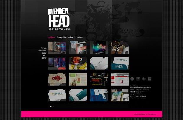 wordpress portfolio web design - Blenderheadstudio.com