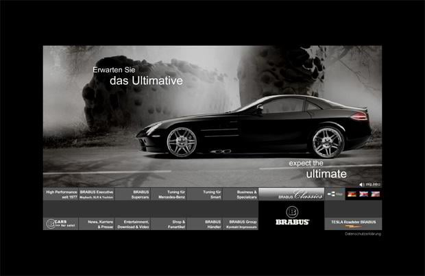 car web design - Brabus