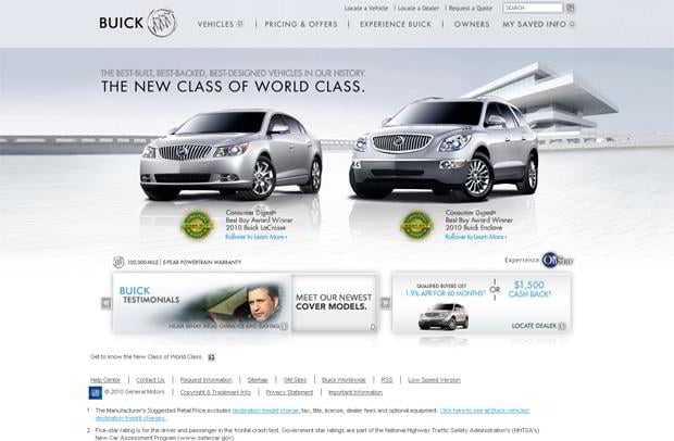 car web design theme - Buick