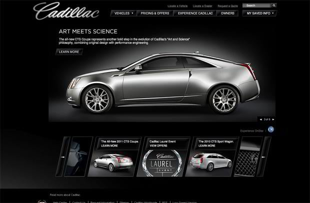 car website - Cadillac
