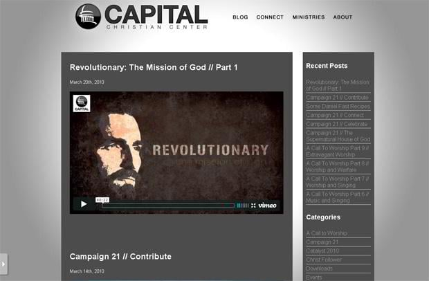 wordpress design video blog - Capitalblog.capitalchristian.com