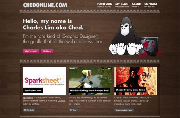 wordpress portfolio website design - Chedonline.com