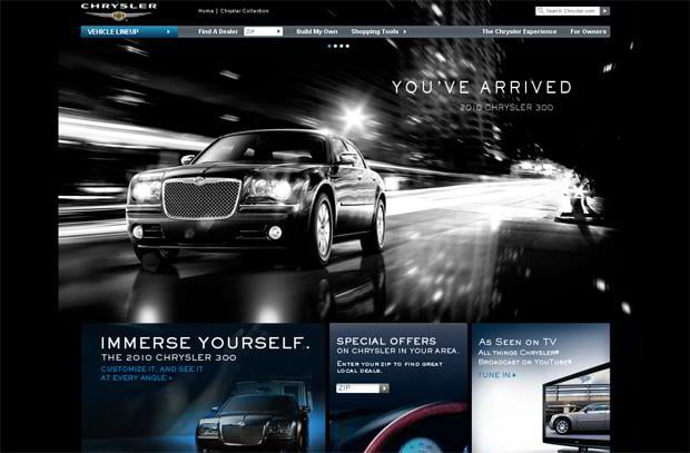 car web design - Chrysler