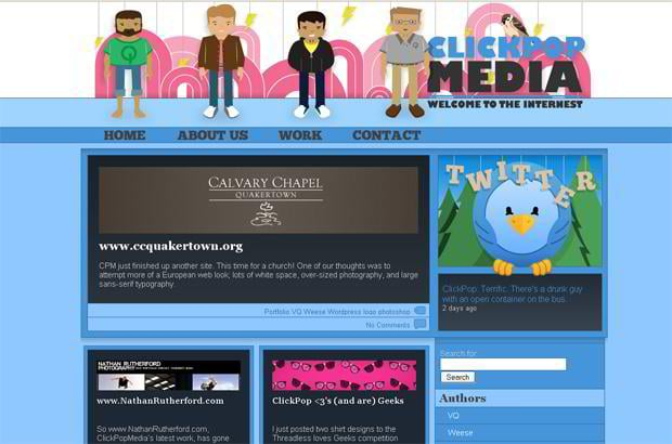 wordpress portfolio design - Clickpopmedia.com
