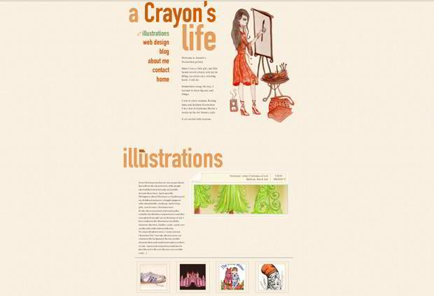 wordpress portfolio website design - Crayonslife.com