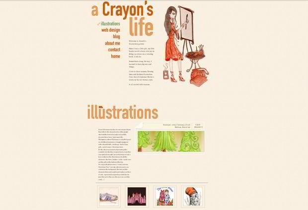 wordpress portfolio website design - Crayonslife.com