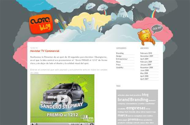 video blog wordpress design - Cuoma.com