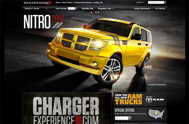 car web page design - DODGE