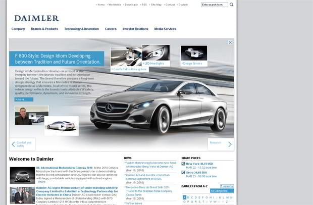 car web design - Daimler