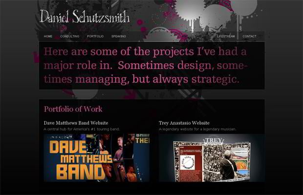 portfolio wordpress theme - Daniel.schutzsmith.com