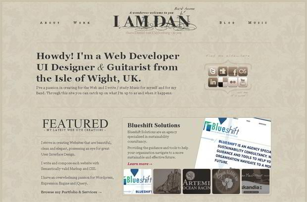 portfolio website wordpress theme - Danielvanc.com