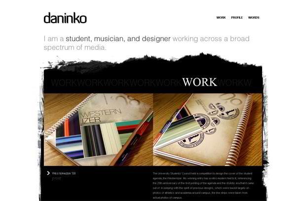 portfolio wordpress web design - Daninko.ca