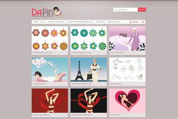 portfolio website wordpress theme - Dapinographics.com