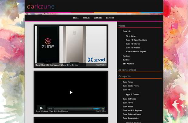wordpress design video blog - Darkzune.com