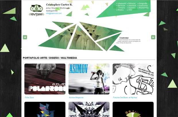 portfolio wordpress website - Dazmoob.com