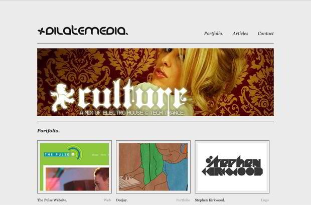portfolio wordpress website - Dilatemedia.co.uk