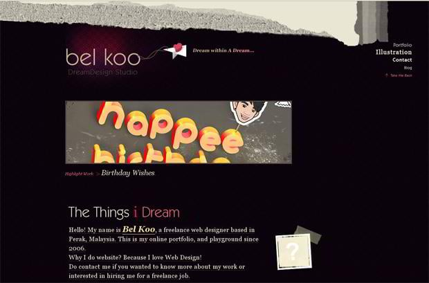 wordpress portfolio design - Dream-design.net