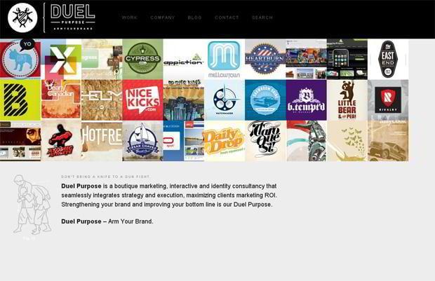 wordpress portfolio web design - Duelpurpose.com