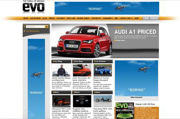 car website design - EVO