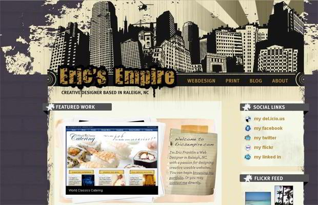 wordpress portfolio web design - Ericsempire.com