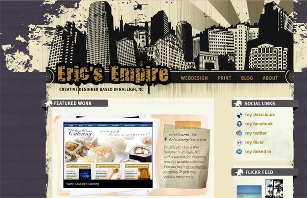 wordpress portfolio web design - Ericsempire.com