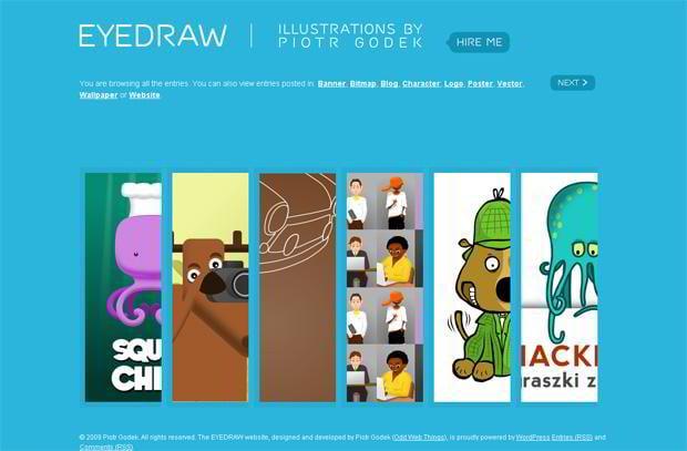 portfolio wordpress theme - Eyedraw.eu
