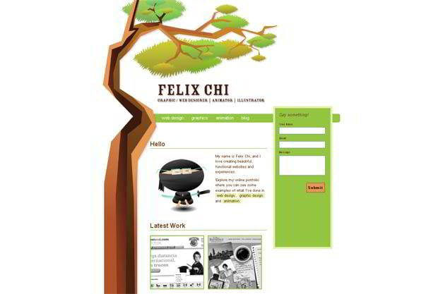 wordpress portfolio theme - Felixchi.com