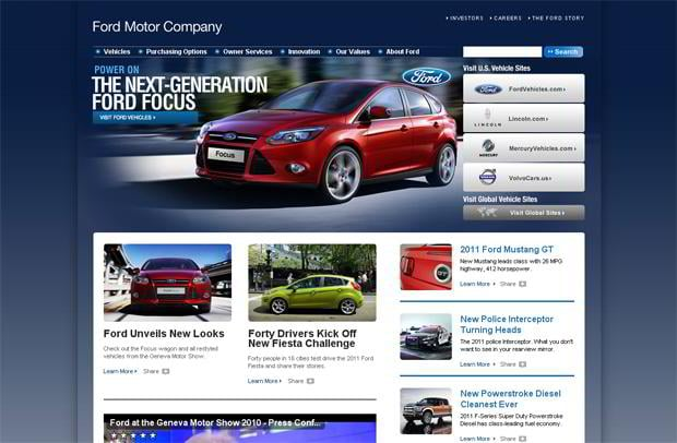 car web design - Ford