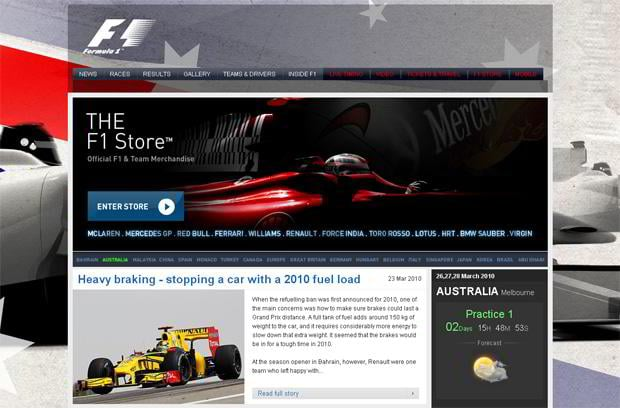 car web design - Formula1