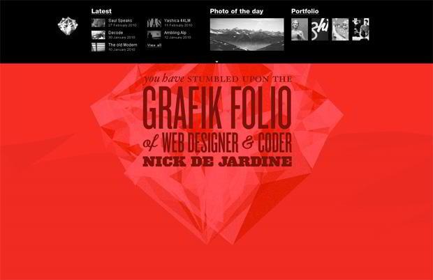 portfolio wordpress website - Grafik.co.nz
