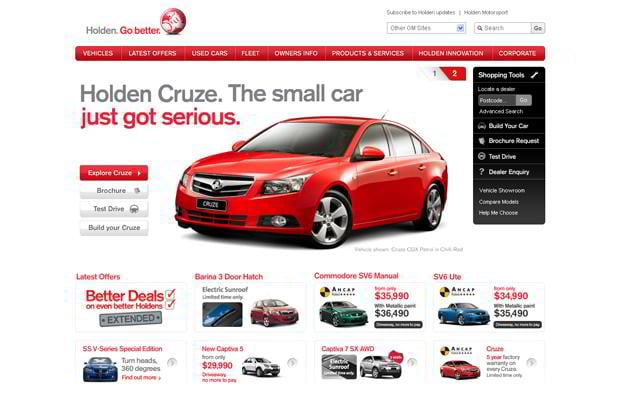 car web design - Holden