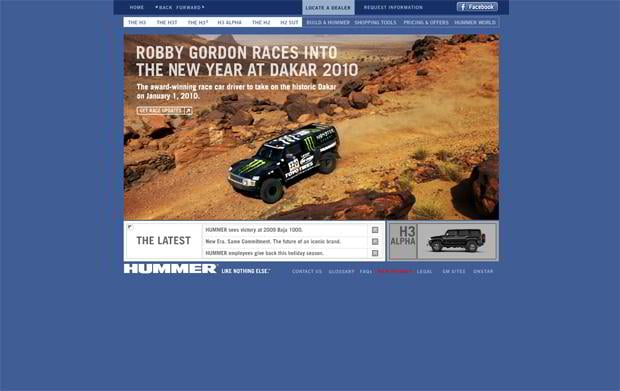 car web design - Hummer